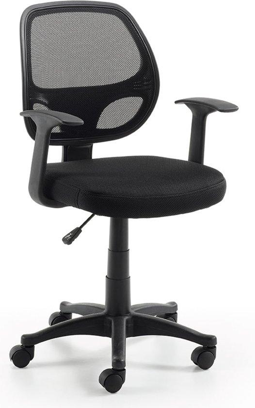 Kave Home - Acta - Bureaustoel - Zwart