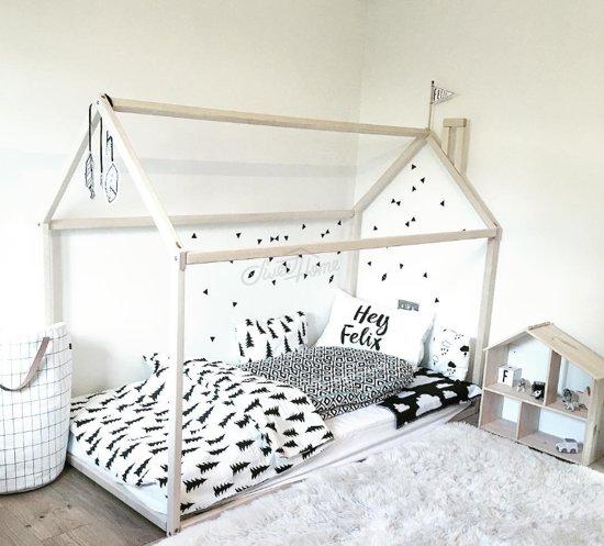 fujl kinderbed kleuter huis bed kinderbed vloer bed speeltent vurenhout. Black Bedroom Furniture Sets. Home Design Ideas