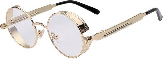 d7770c6c8f9384 Steampunk ronde bril - ronde glazen - goud montuur - vintage hippie festival