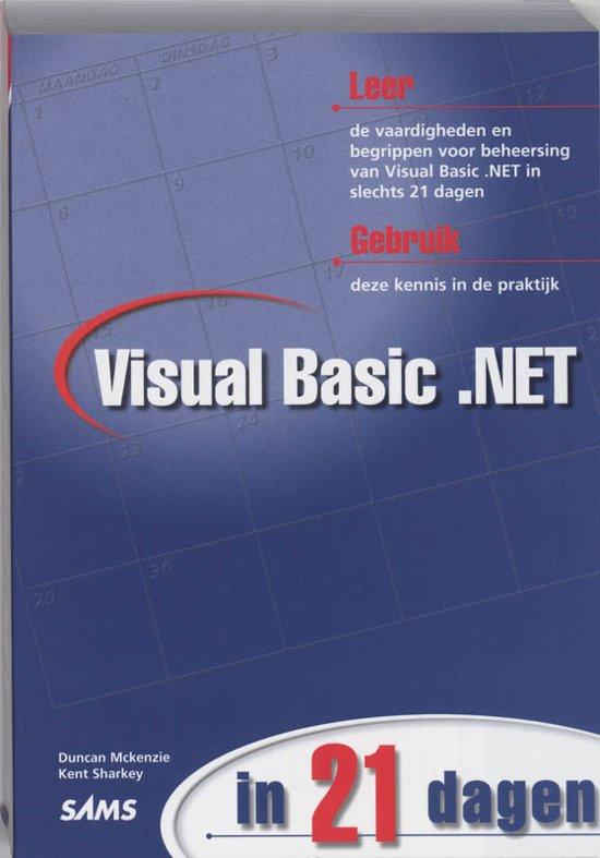 Cover van het boek 'Visual Basic .NET in 21 dagen'