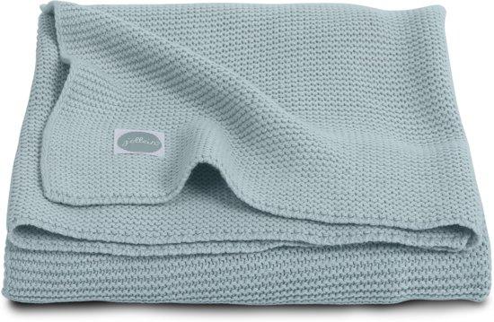 Jollein Basic knit Deken 75x100cm stone green