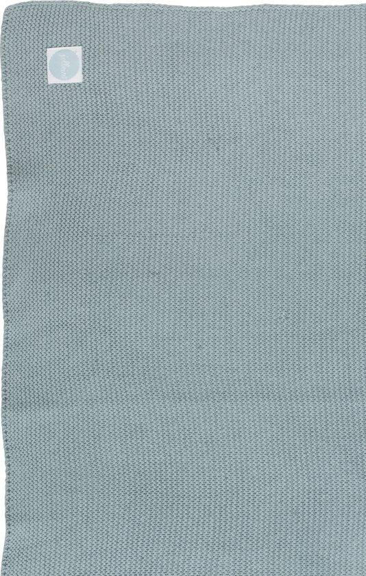 Jollein Basic knit Deken - stone green (75x100cm)