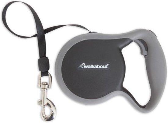 Walkabout retractable leiband S zwart