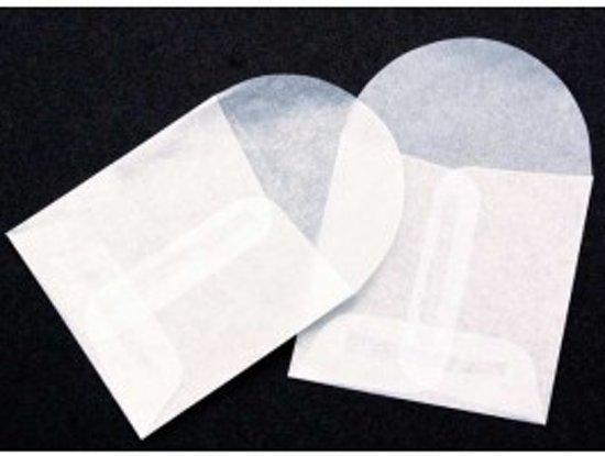 Pergamijn Envelopjes 5,5x5,5cm (100 stuks)