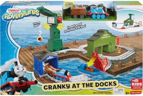 Thomas de Trein Adventures Cranky In De Haven - Treinbaan