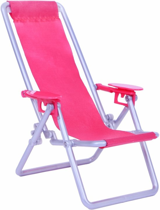 Klapstoel voor Barbie - roze plastic stoel