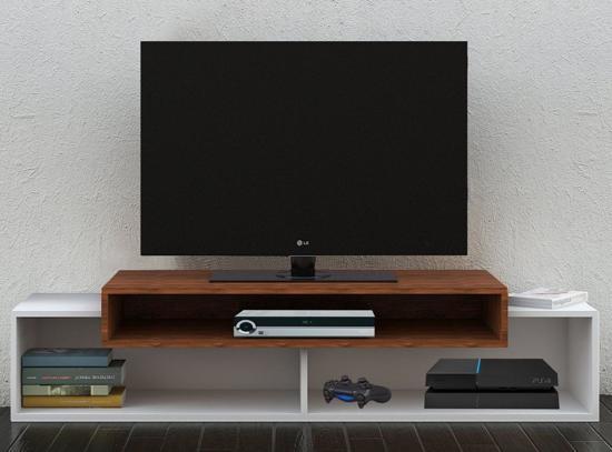 Noten Tv Meubel.Bol Com Modern Tv Meubel Tv Kast Monaco Wit Noten