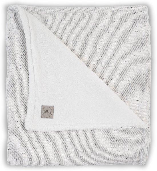 Jollein Confetti Knit Wiegdeken Natural/Teddy 75 x 100 cm