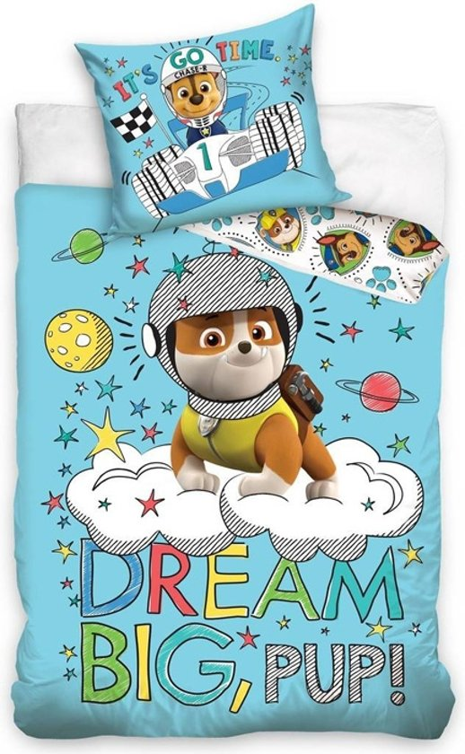 Paw Patrol dekbedovertrek - Dream Big, pup - ledikant maat
