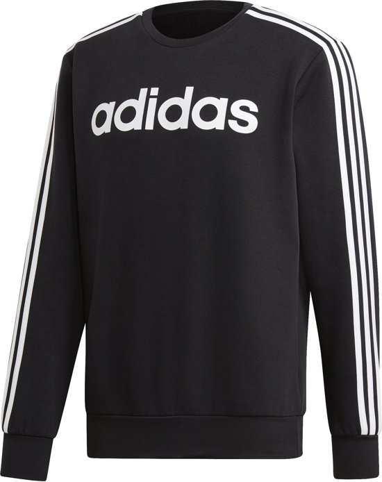 | Adidas Adidas Essentials 3 Stripes Sweater Zwart Heren