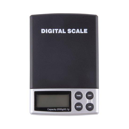 Precisie Weegschaal - Digitaal - Pocket model - 0,1 tot 2000 Gram