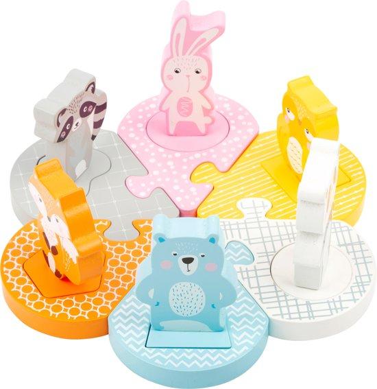 Afbeelding van Insteek puzzel in pastel kleuren speelgoed