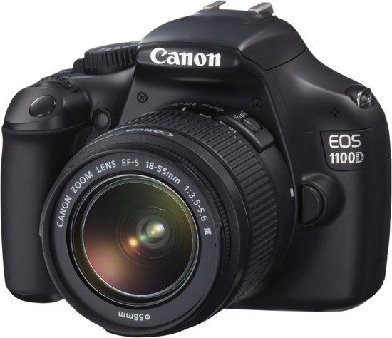 Canon EOS 1100D + 18-55mm DC III - spiegelreflexcamera