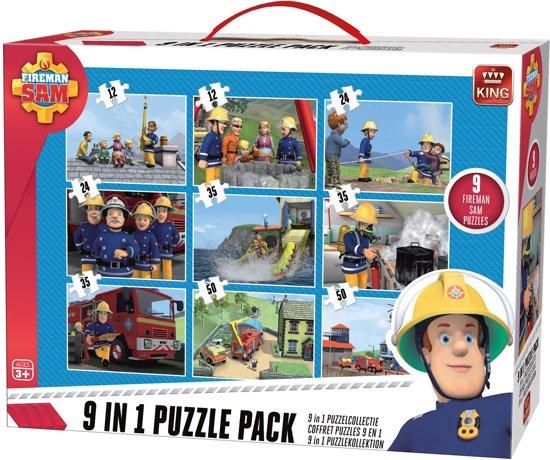 Afbeelding van Puzzel 9 in 1 Brandweerman Sam -  Inclusief Handvat speelgoed