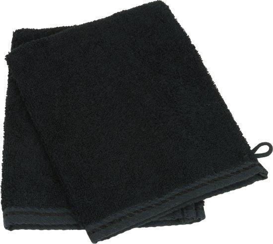 Washandje 100% Katoen - Zwart - (Set 10 stuks)