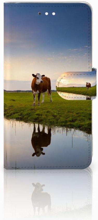 Huawei Ascend G7 Uniek Cover met Opbergvakjes Koeien in De Heuvels