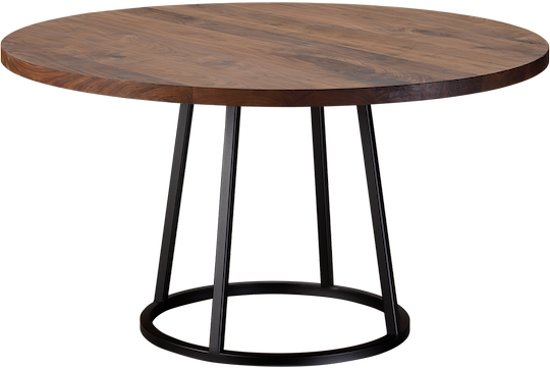 Ronde Tafel Diameter 140.Table Du Sud Noten Ronde Tafel Faye 140 Cm