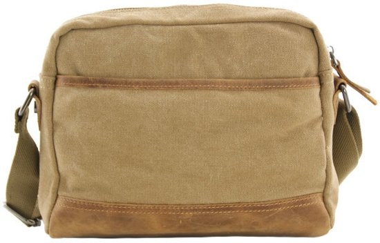 Washington Schoudertas Khaki Met Luanzo Leer Canvas CBoWrdxe