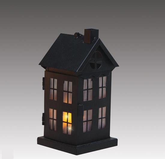 bol.com   Luca Lighting - Metalen Huisje met LED verlichting - Zwart