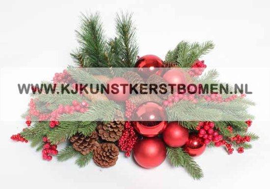 Bol Com Kerststukje Voor Op Tafel Met Rode Kerstballen