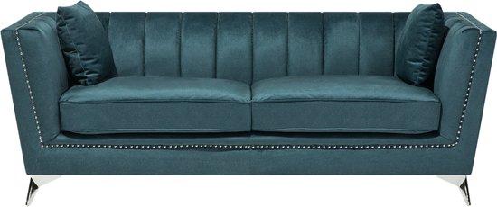 Beliani Gaula 3-Zits bank Blauw polyester