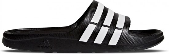 7d63aefdf44 adidas Duramo Slippers Volwassenen - Core Black / White / Core Black - Maat  46