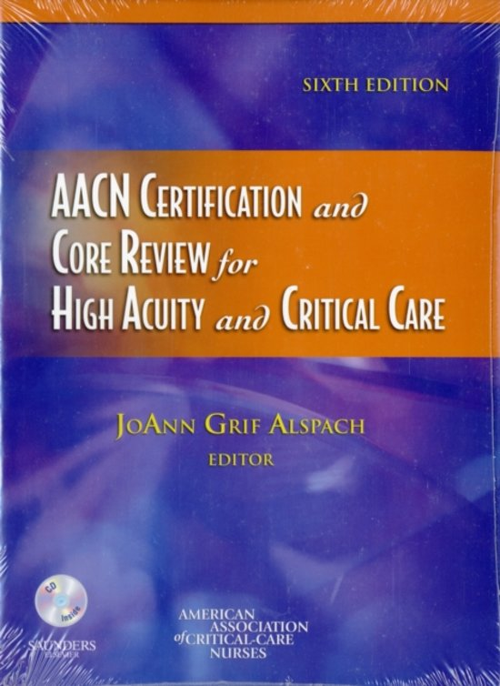 Bol Aacn Certification And Core Review For High Acuity And