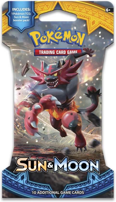 Afbeelding van het spel Pokémon Sun & Moon Sleeved Boosterpack - Pokémon Kaarten