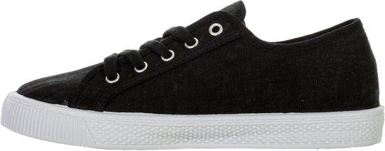 Sneakers wit Maat Levi Sneaker Malibu Vrouwen Dames 37 Zwart qHRw7RPS