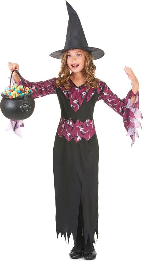 halloween heksen kostuum voor meisjes halloween artikel verkleedkleding 134 146. Black Bedroom Furniture Sets. Home Design Ideas