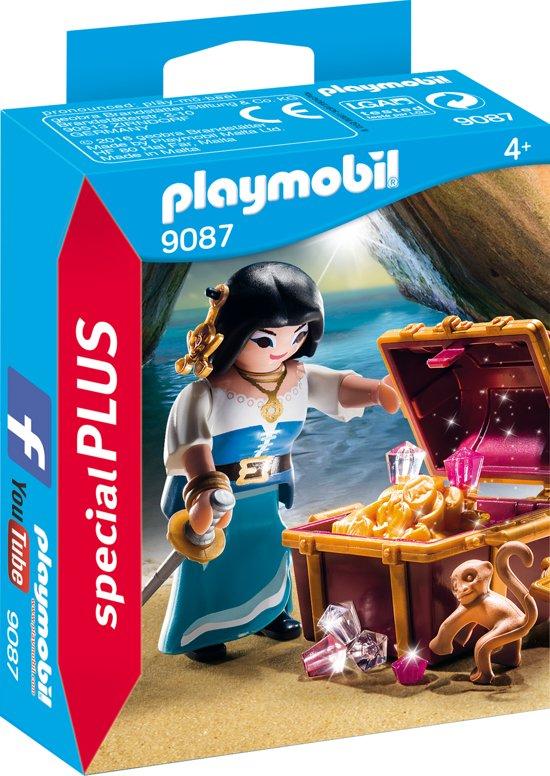PLAYMOBIL Piratenvrouw met schatkist  - 9087