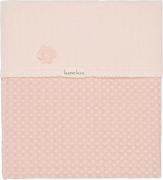 Koeka Ledikantdeken wafel/teddy Oslo - Shadow pink