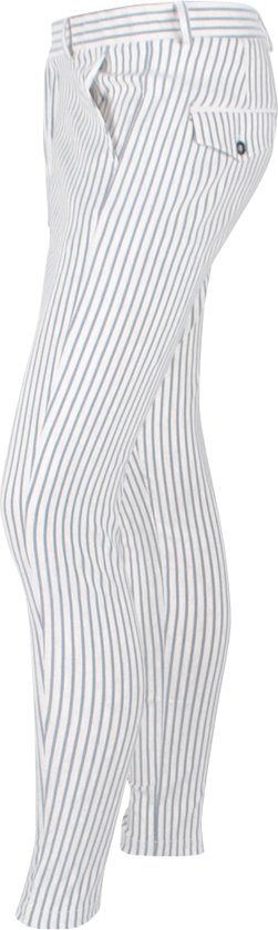 Ferlucci - Heren Pantalon Model Paulo Stretch Blauw Beige Gestreept o0mnM9WA SJbN8AM8