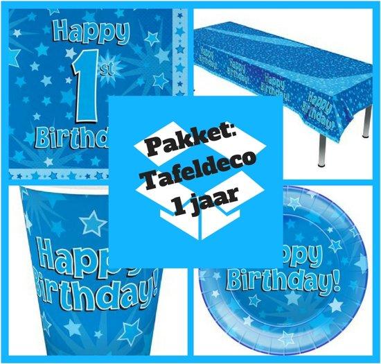 Iets Nieuws bol.com | 1 jaar versiering blauw - eerste verjaardag jongen tafel &FB66