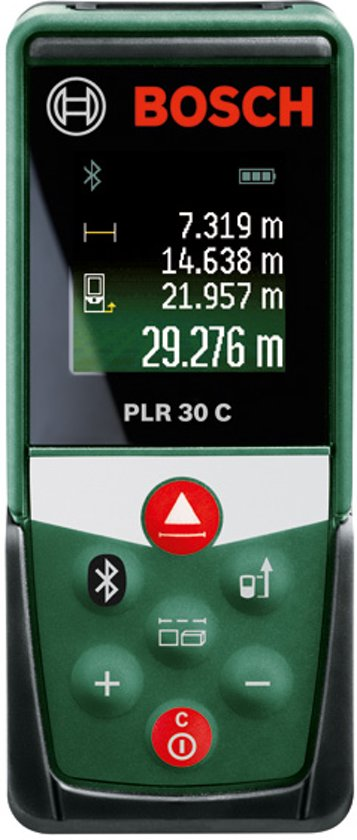 Bosch PLR 30 C Afstandsmeter - Tot 30 meter bereik