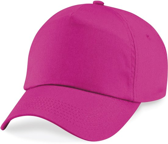 Beechfield Junior Original 5 Panel Cap Fuchsia