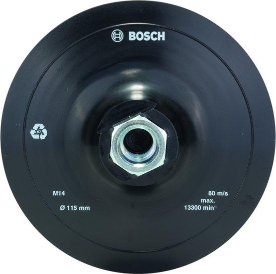 Bosch - Rubber schuurschijf voor haakse slijpmachines, klithechtsysteem, 115 mm 115 mm