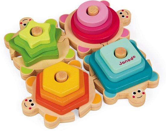 Janod I Wood Stapel Schildpadjes