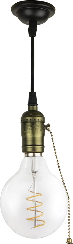 Verbazingwekkend bol.com | Hanglamp fitting koper trekschakelaar BU-24