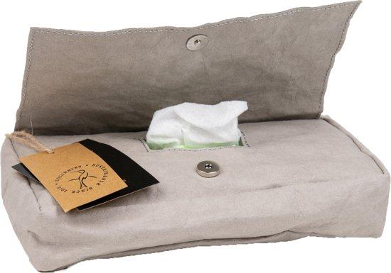 Colibries birch hoes babydoekjes Stone - doos billendoekjes - duurzaam - wasbaar papieren - grijs