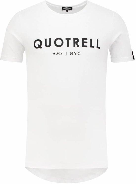 QUOTRELL Brand Tee White/Black