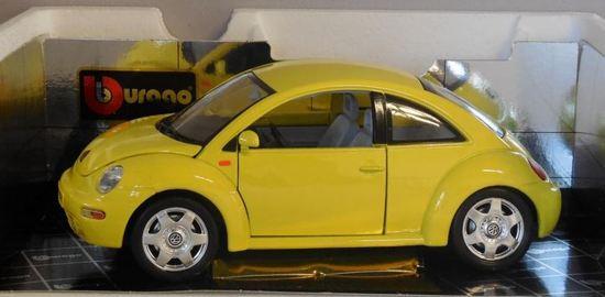 Volkswagen New Beetle 1998 1:18 Bburago Geel 3302