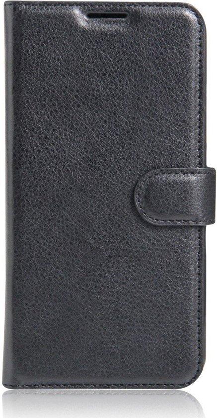 Shop4 - Lenovo Vibe K5 Hoesje - Wallet Case Lychee Zwart in Hoogelande