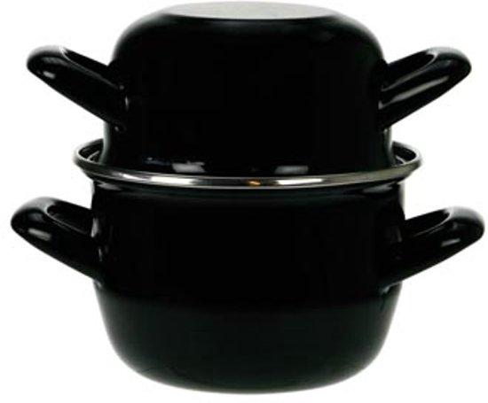 Cosy&Trendy Mosselpan Ø 18 cm - Zwart - Geschikt voor inductie Valentinaa