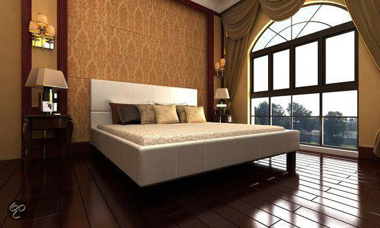 Wit Bed 2 Persoons.Bol Com Vidaxl Bed 2 Persoons Bed Romantico Wit Leer 180 X 200
