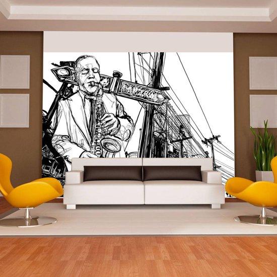Fotobehang - Saxofoon op Broadway