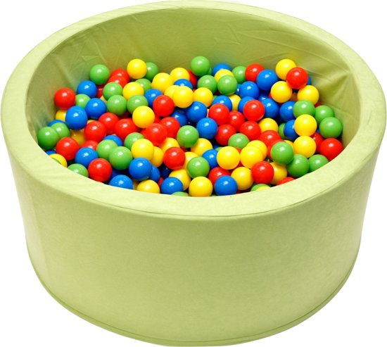 Ballenbak | Mintgroen incl.  200 gele, groene, blauwe en rode ballen