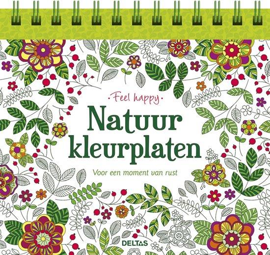 Bol Com Feel Happy Natuur Kleurplaten 9789044742978 Boeken