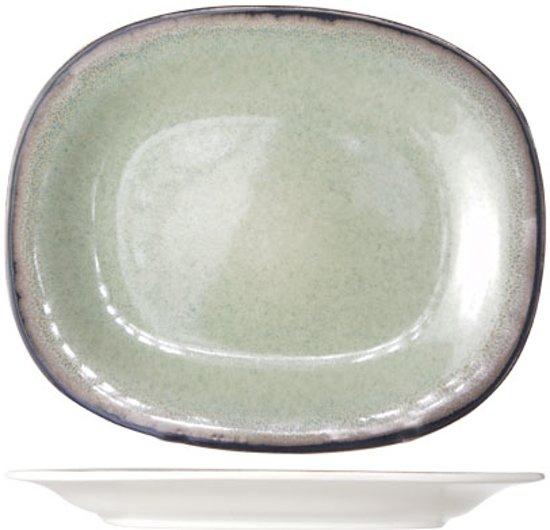 Cosy&Trendy Fez Dessertbord - Ovaal - 19,5x23,5 cm - Green - 6 stuks