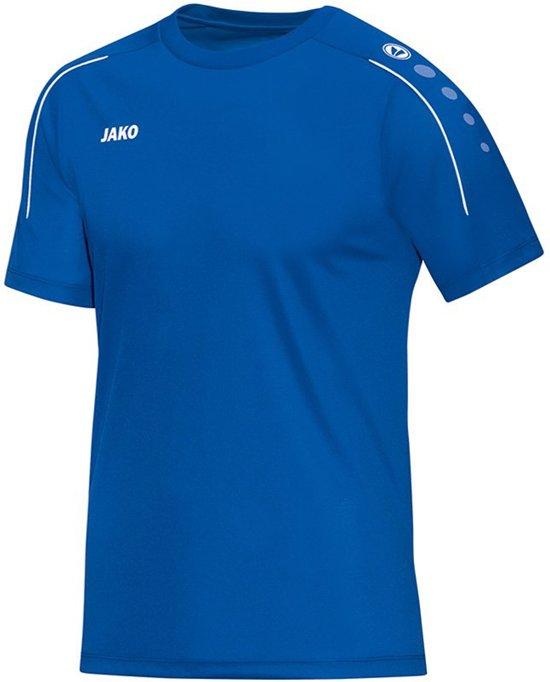 Jako Classico T-shirt Heren Sportshirt - Maat XXL  - Mannen - blauw/wit